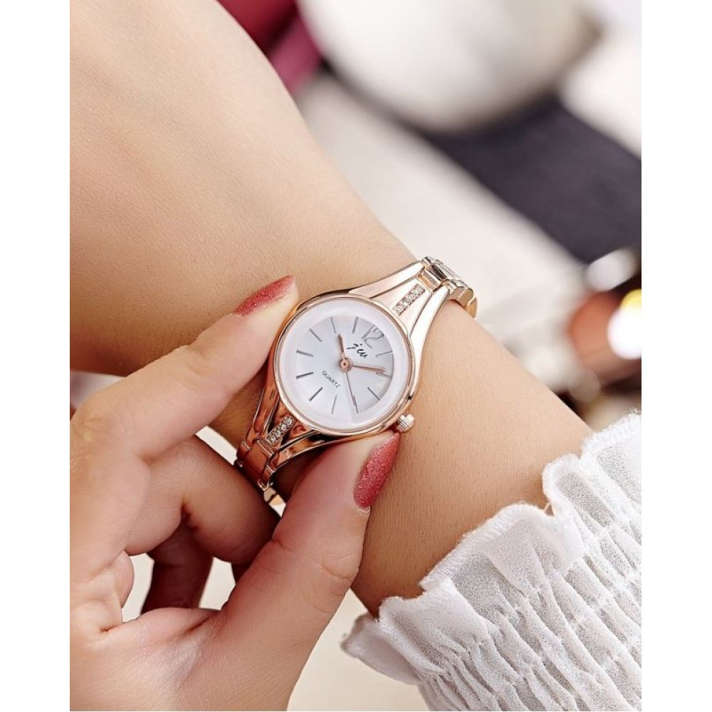 Женские Часы наручные JW, золотистые  4633