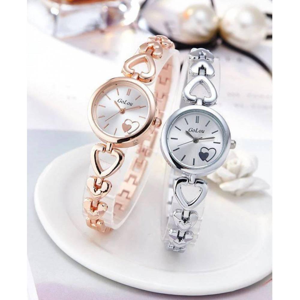 Женские Часы наручные JW, серебристые  4634