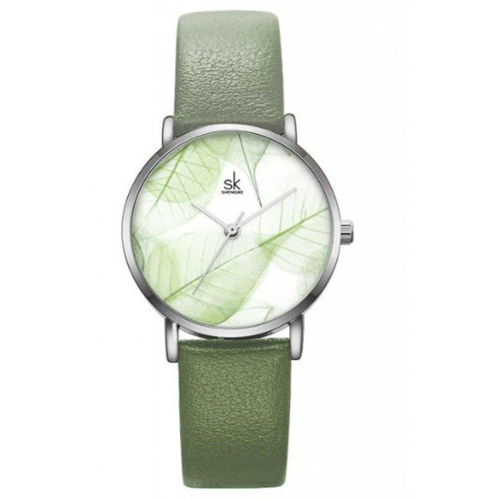 Женские Часы наручные SK, зеленые  4700