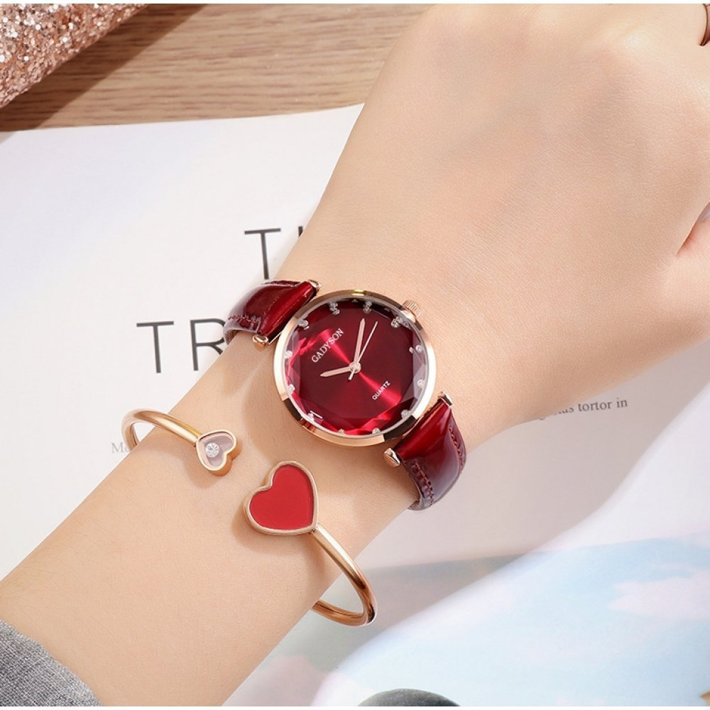 Женские Часы наручные Gogoey, красные  4804