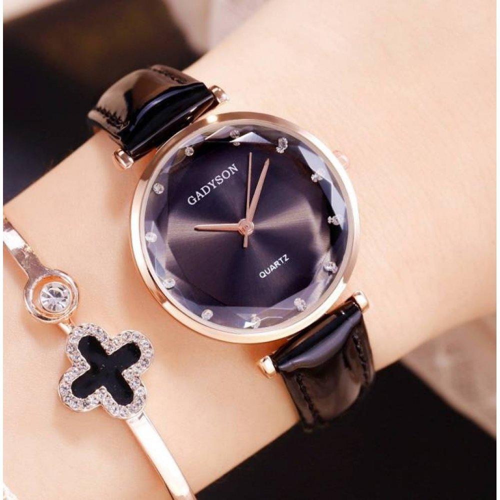 Женские Часы наручные Gogoey, черные  4805