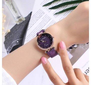 Женские Часы наручные Vansvar, фиолетовые 4895