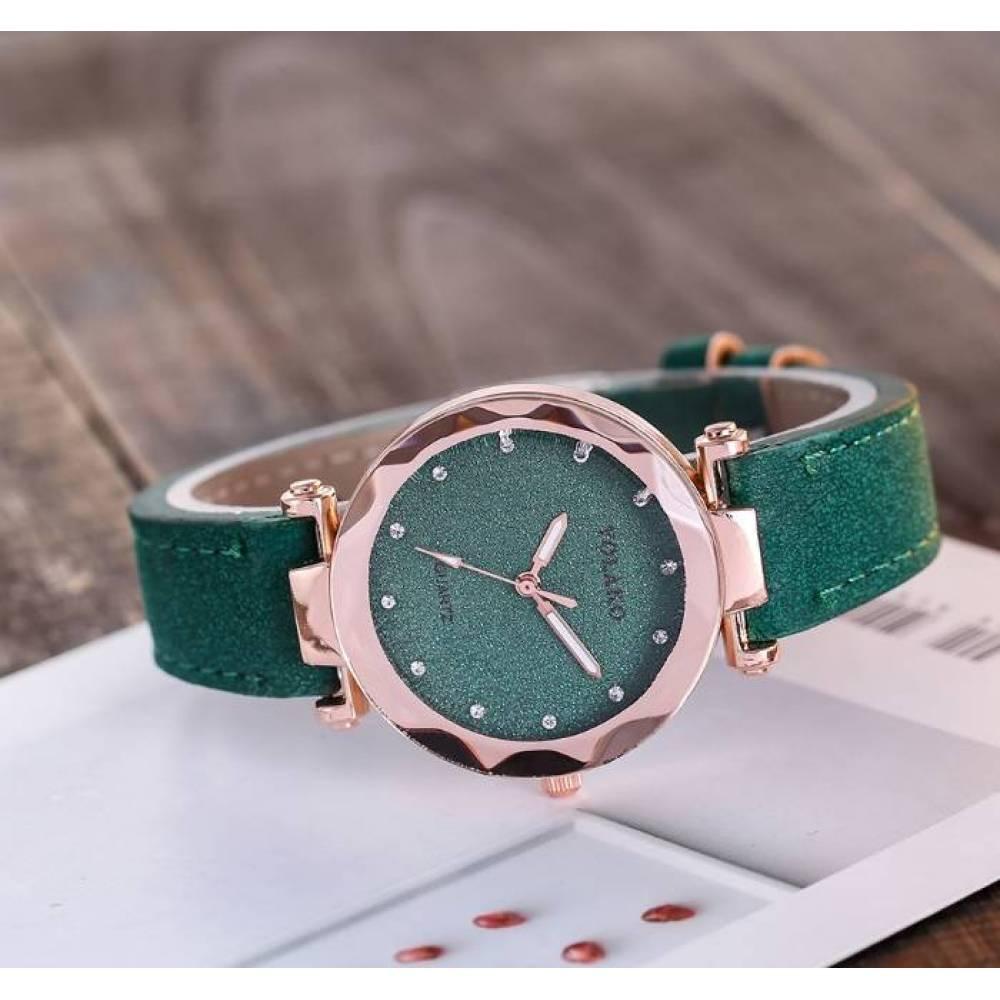 Женские Часы наручные Vansvar, зеленые 4896