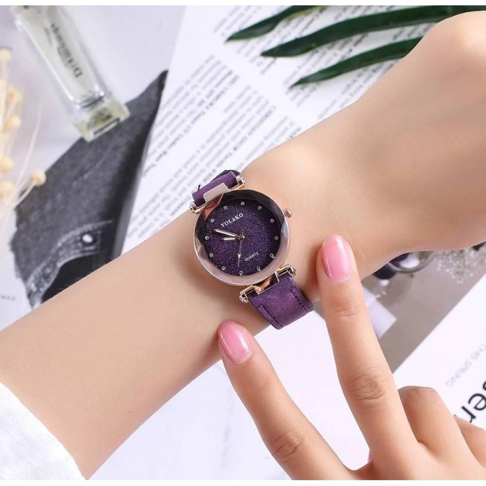 Женские Часы наручные Vansvar, фиолетовые  4898
