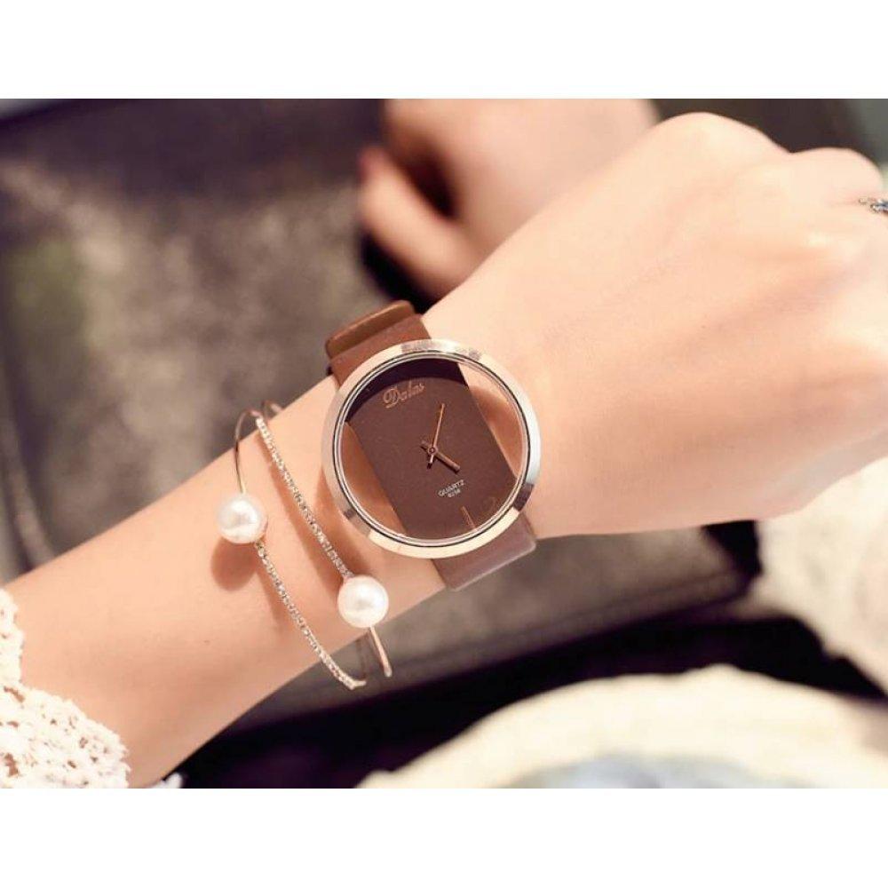 Женские Часы наручные JW, коричневые 4923