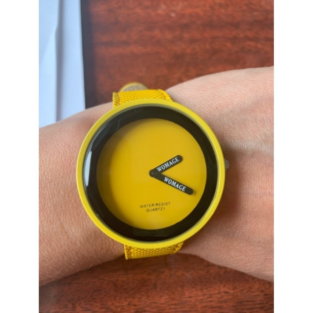 Женские Часы наручные WoMaGe, желтые 5153