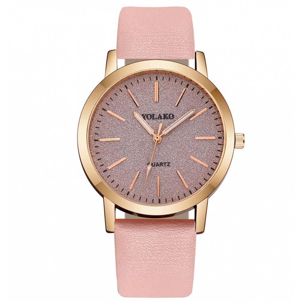 Женские Часы наручные Yolako, розовые 5170