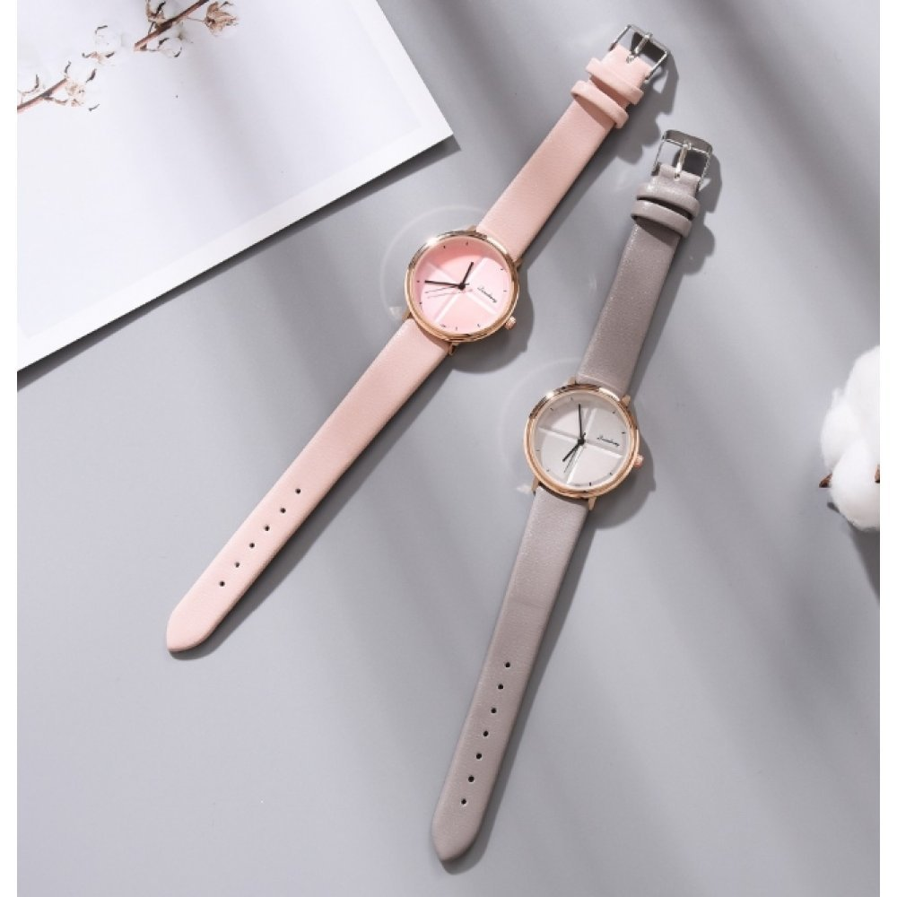 Женские Часы наручные Yuhao, бежевые 5200