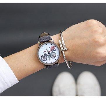 Женские Часы наручные JBRL Велосипед, черные 5573