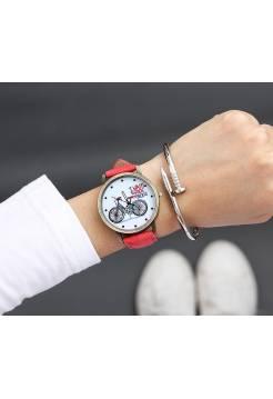 Женские часы JBRL Велосипед, красные