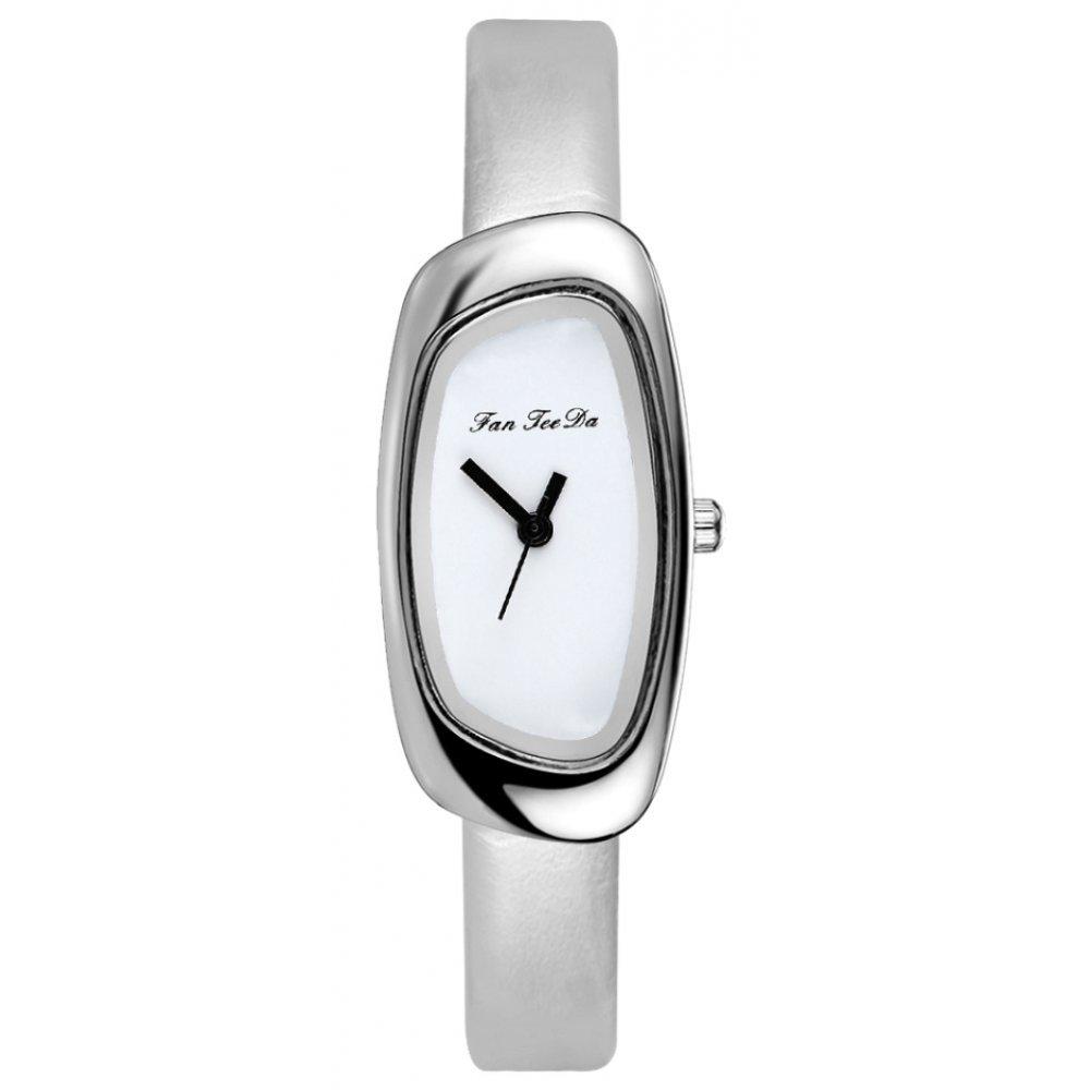 Женские Часы наручные FanTeeDa, серебристые 5589