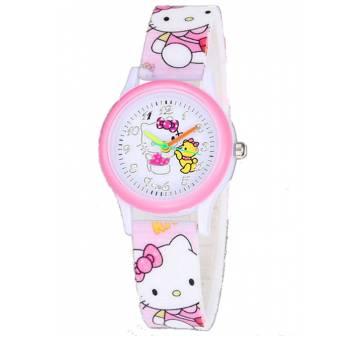 Детские Часы наручные Hello Kitty, розовые  5681
