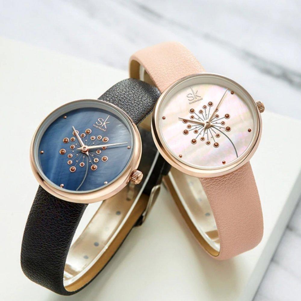 Женские Часы наручные SK, розовые  5724