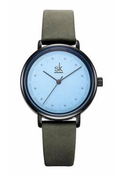 Женские часы SK, голубые