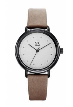 Женские часы SK, коричневые