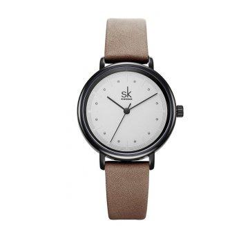 Женские Часы наручные SK, коричневые  5728