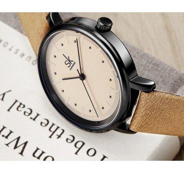 Женские Часы наручные SK, коричневые  5729