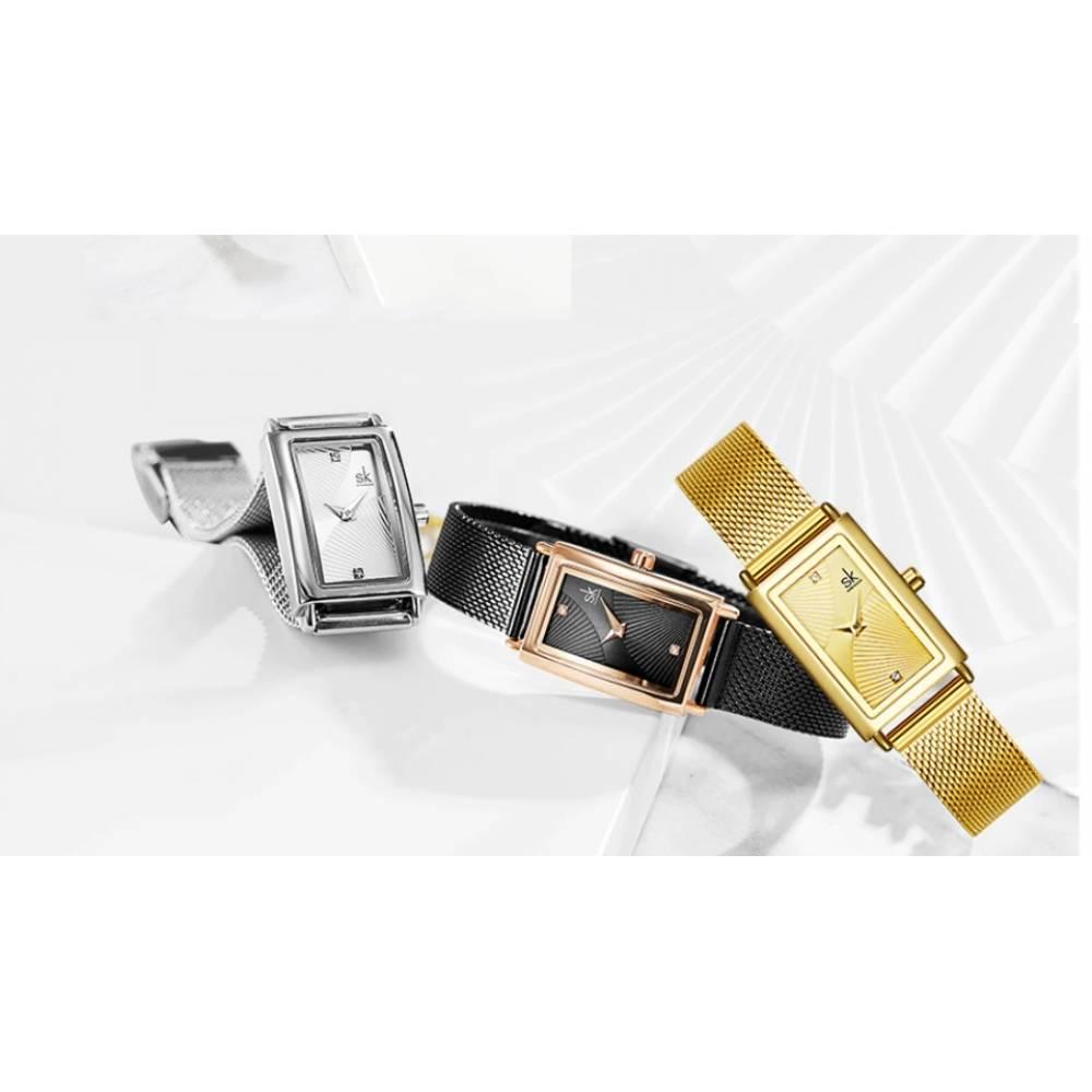 Женские Часы наручные SK, серебристые 5739