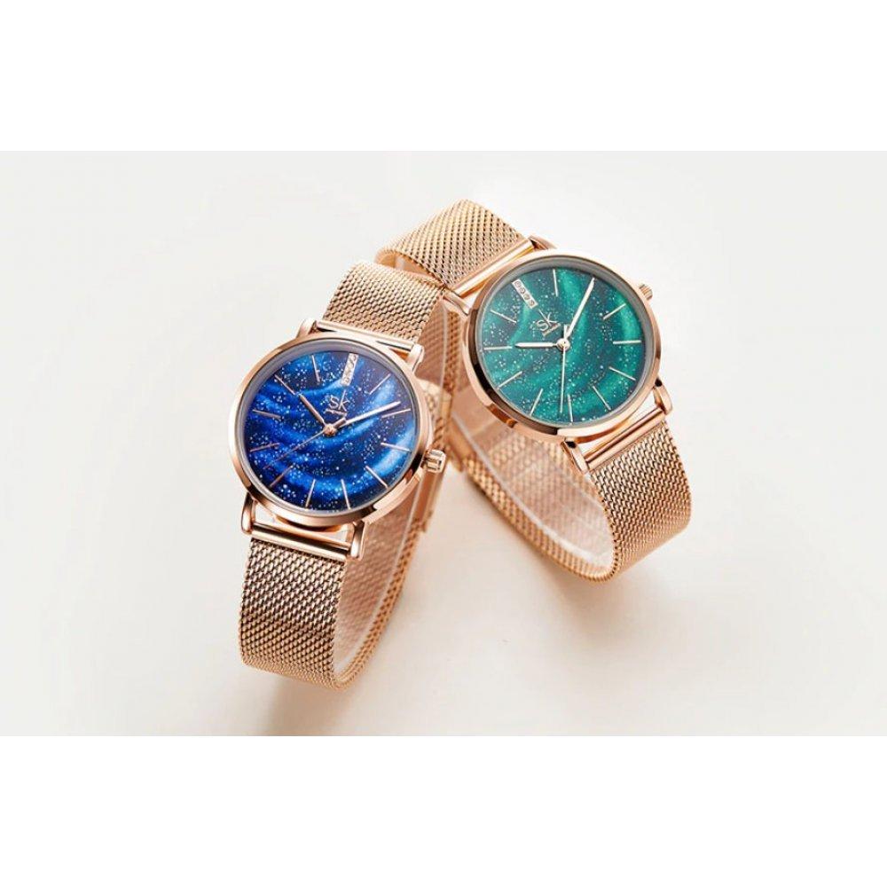 Женские Часы наручные SK, зеленые 5741