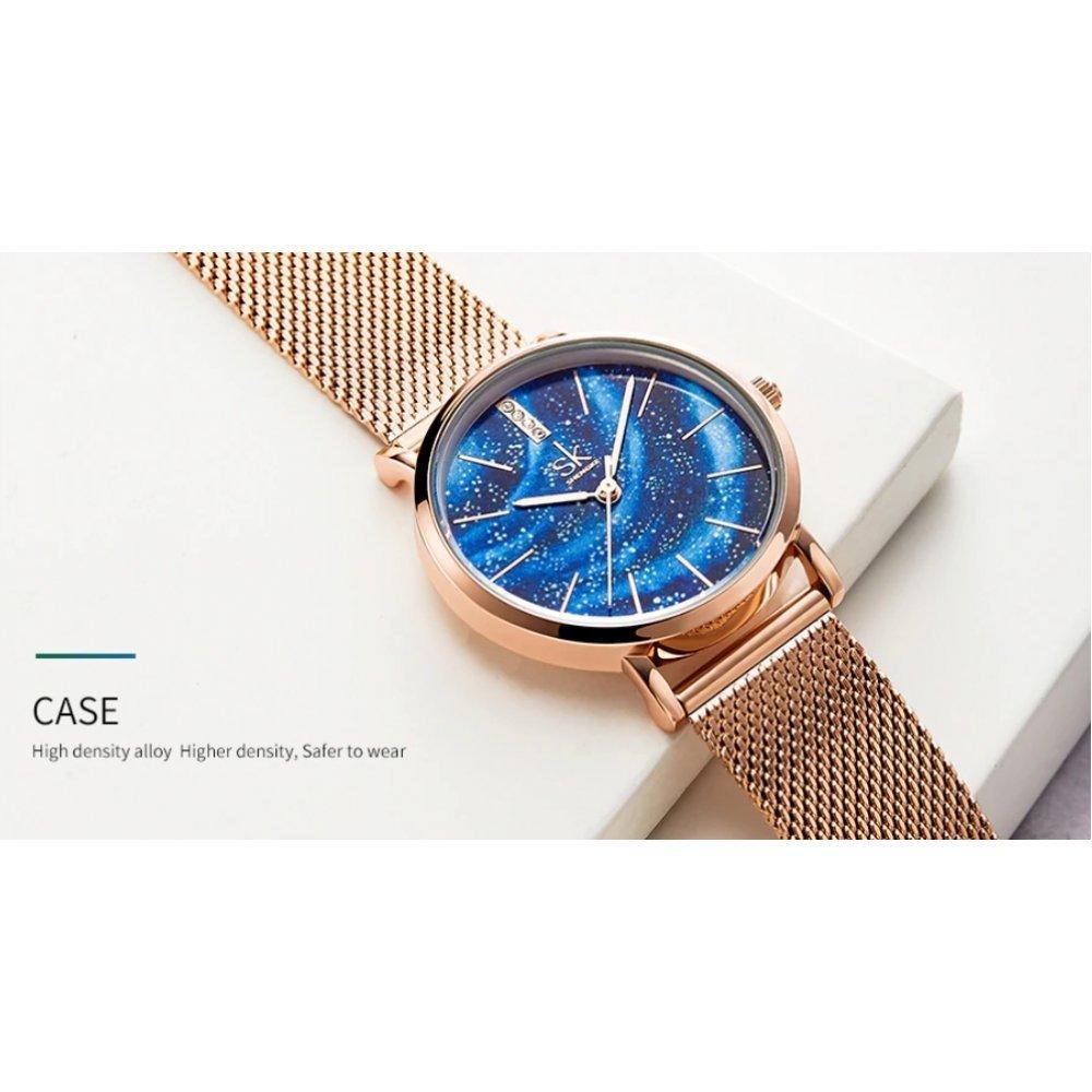 Женские Часы наручные SK, синие 5742