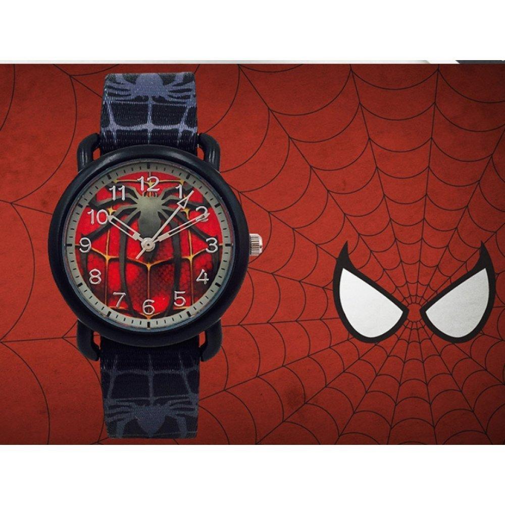 """Детские Часы наручные """"Человек паук"""" черные 5897"""