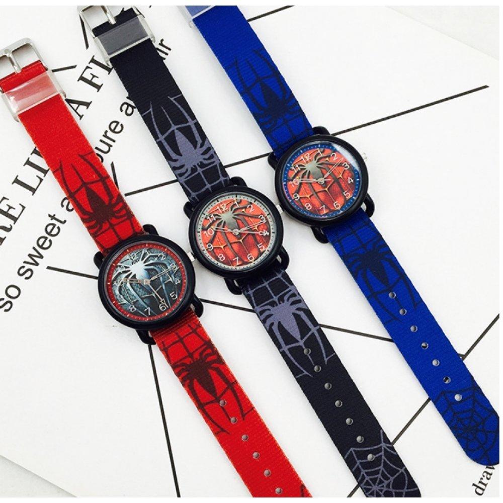 """Детские Часы наручные """"Человек паук"""" красные 5899"""