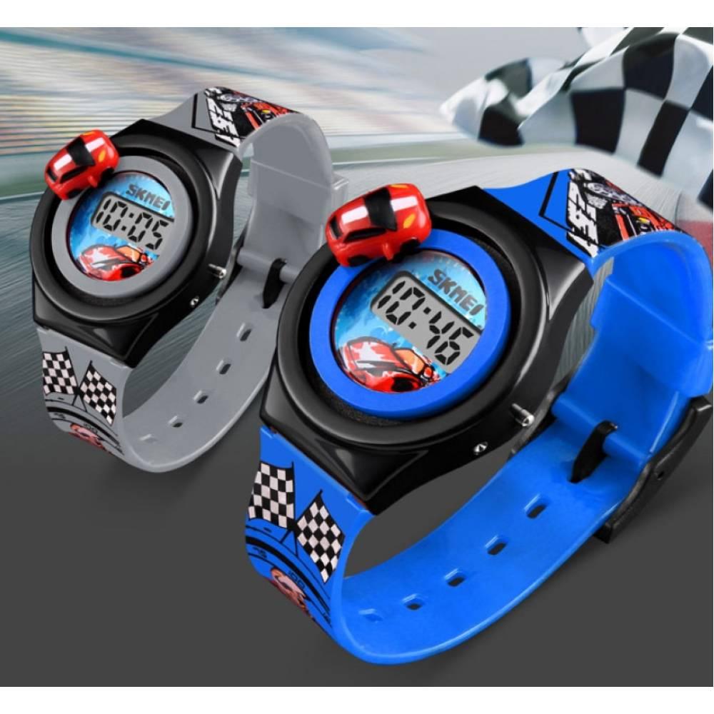 """Детские Часы наручные Skmei """"Машинка"""" синие 5905"""