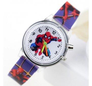 """Часы наручные детские """"Человек Паук"""" голубые 6174"""