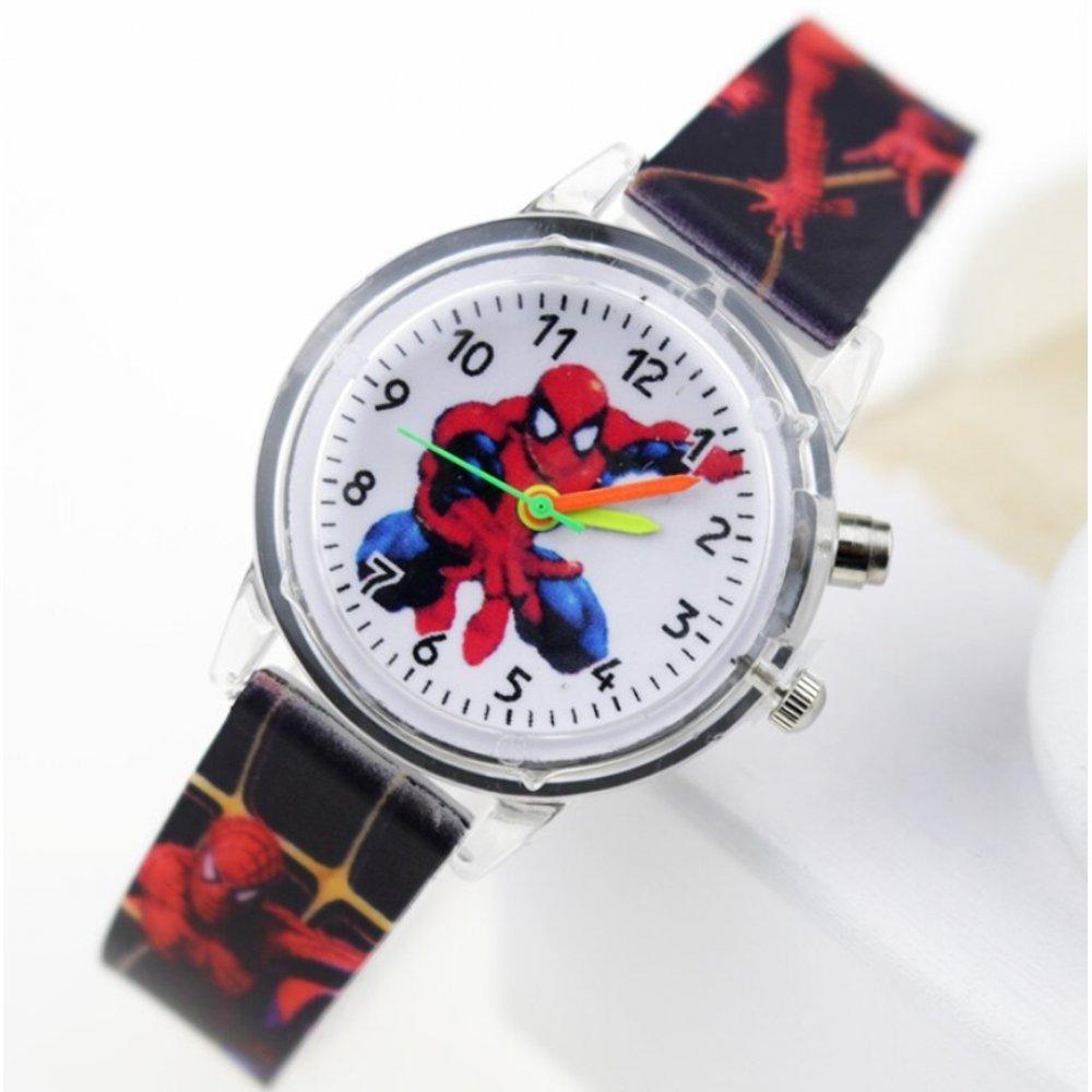 """Часы наручные Часики для детей """"Человек Паук"""" с подсветкой  6175"""