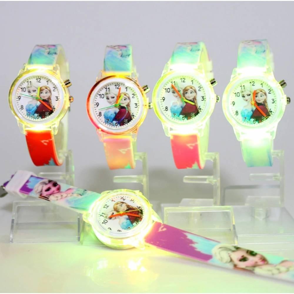 """Часы наручные Часики для детей """"Холодное сердце"""" с подсветкой  6177"""