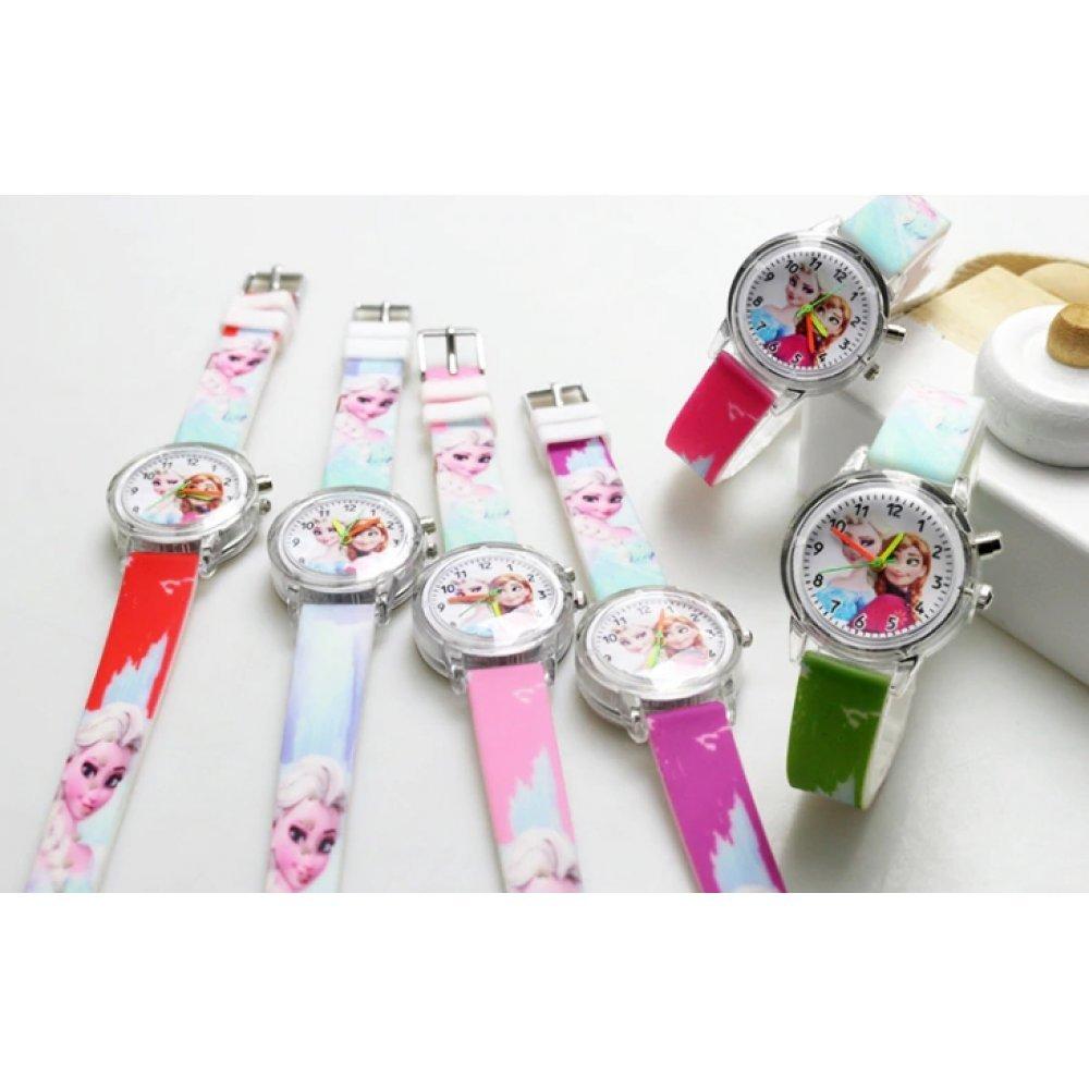 """Часы наручные Часики для детей """"Холодное сердце"""" с подсветкой  6178"""
