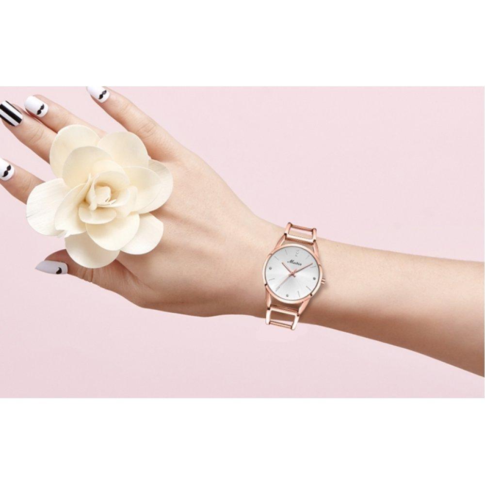 Часы наручные женские MEIBIN, серебристые 6326