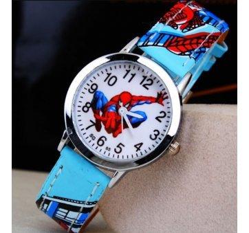 """Часы наручные детские """"Человек Паук"""" голубые 6373"""