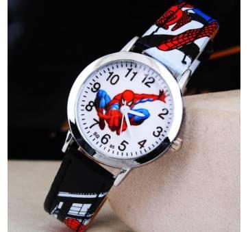 """Часы наручные детские """"Человек Паук"""" черные 6374"""
