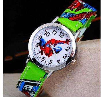 """Часы наручные детские """"Человек Паук"""" зеленые 6375"""
