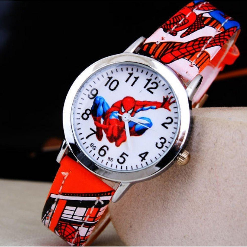 """Часы наручные детские """"Человек Паук"""" красные 6376"""