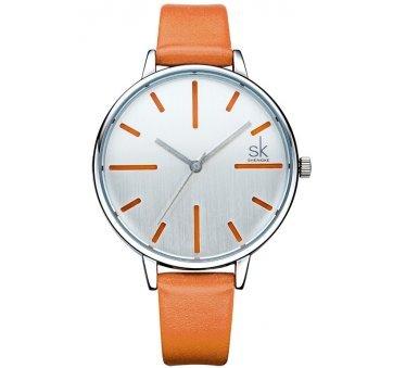 Женские Часы наручные SK оранжевые 6417