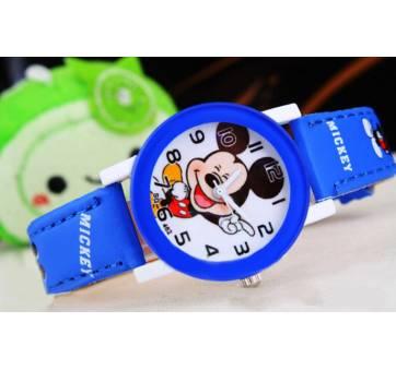 Детские Часы наручные Микки Маус, синие 6431