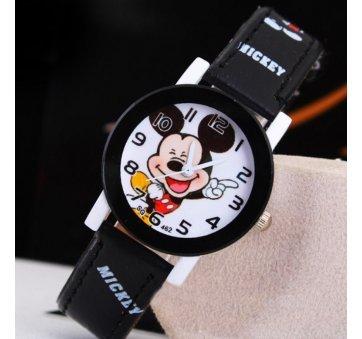 Детские Часы наручные Микки Маус, черные 6432