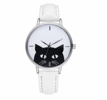 Женские Часы наручные Xiniu с кошкой, белые 6671