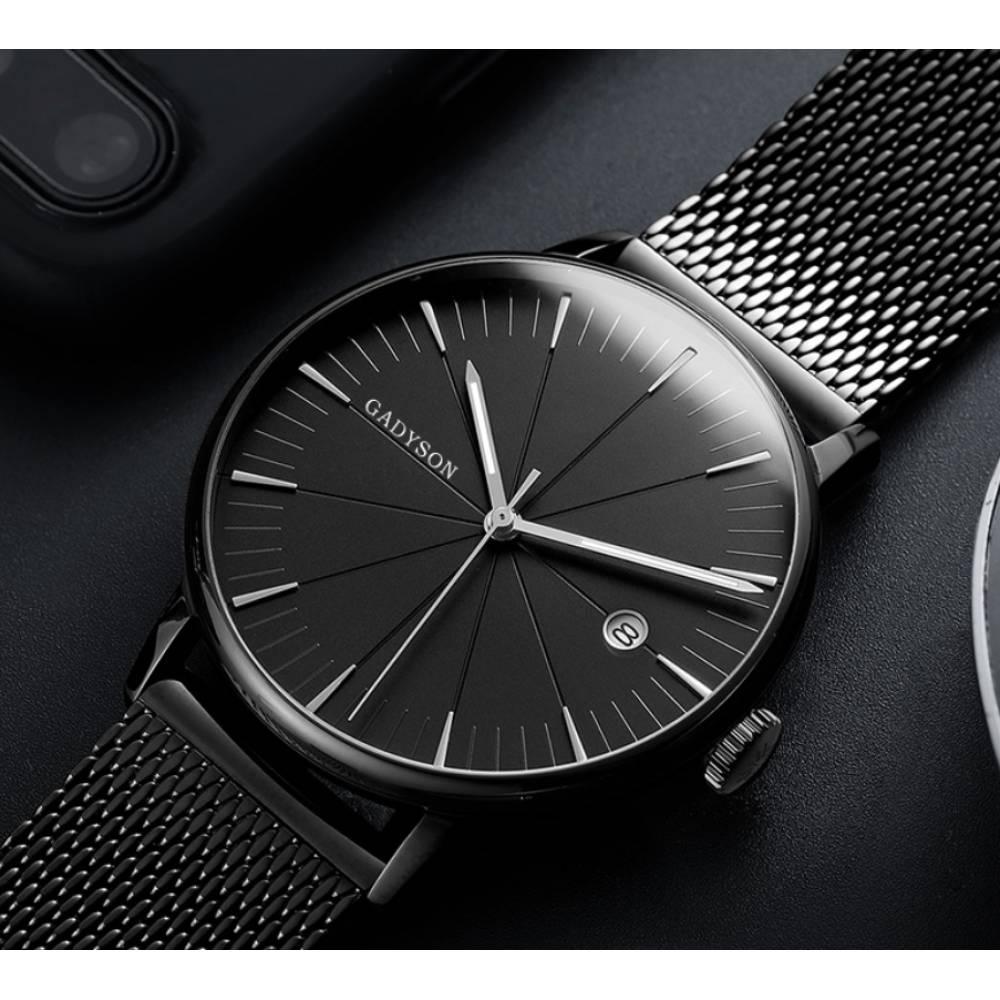 Часы наручные мужские GADYSON, черные 6673