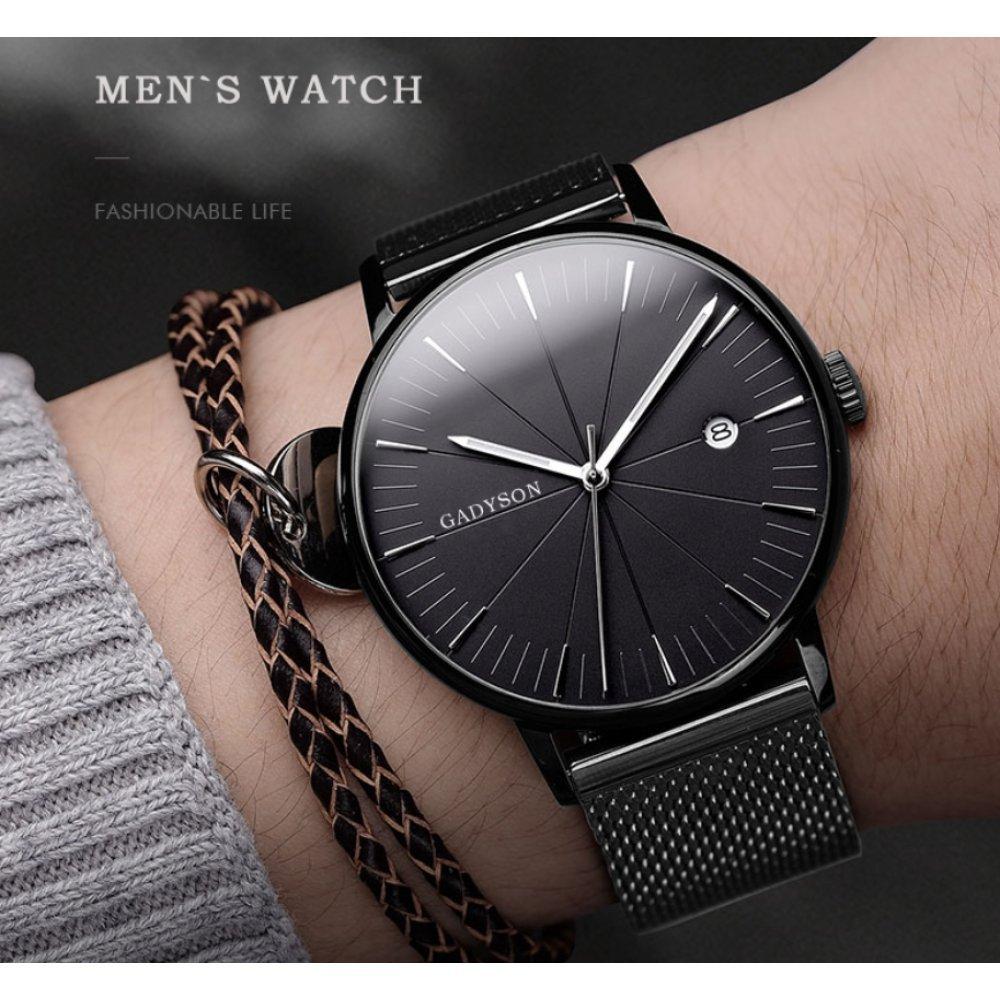 Часы наручные мужские GADYSON, черные 6674