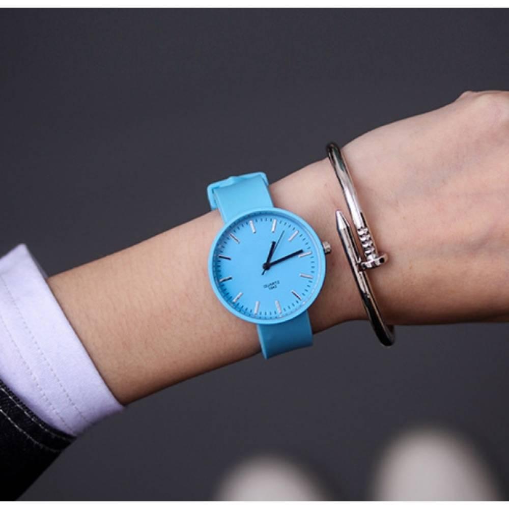 Женские Часы наручные JBRL, голубые 6763