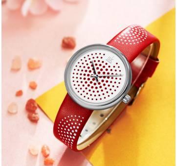 Женские Часы наручные SK, красные 6958