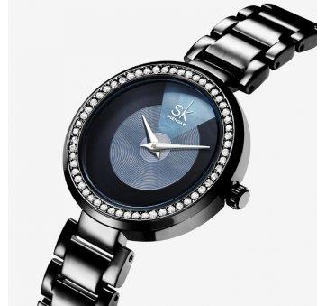 Женские Часы наручные SK, черные 6960