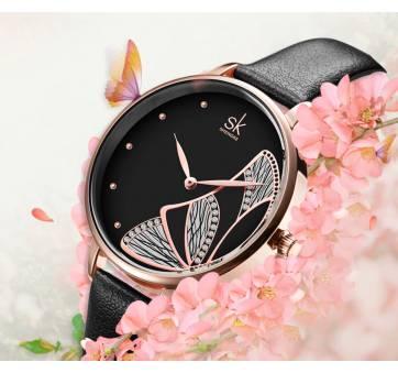 Женские Часы наручные SK, черные 6964