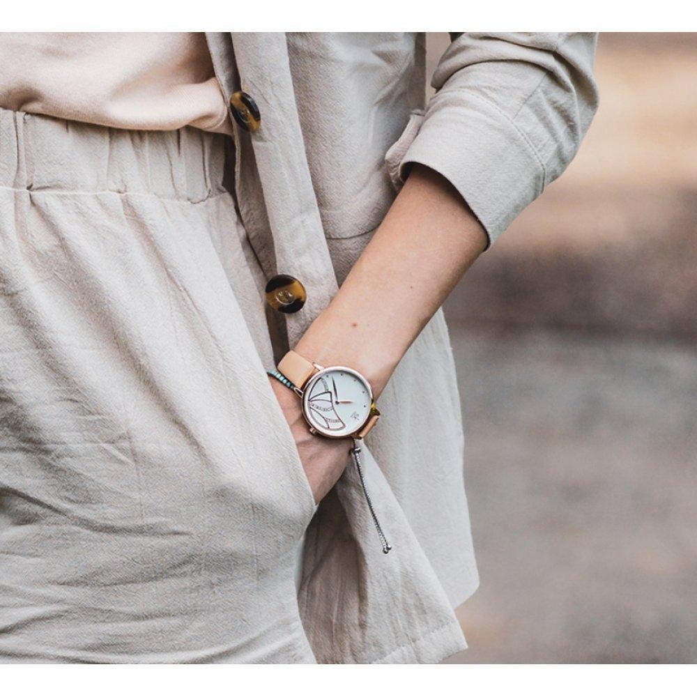 Женские Часы наручные SK, бежевые 6965
