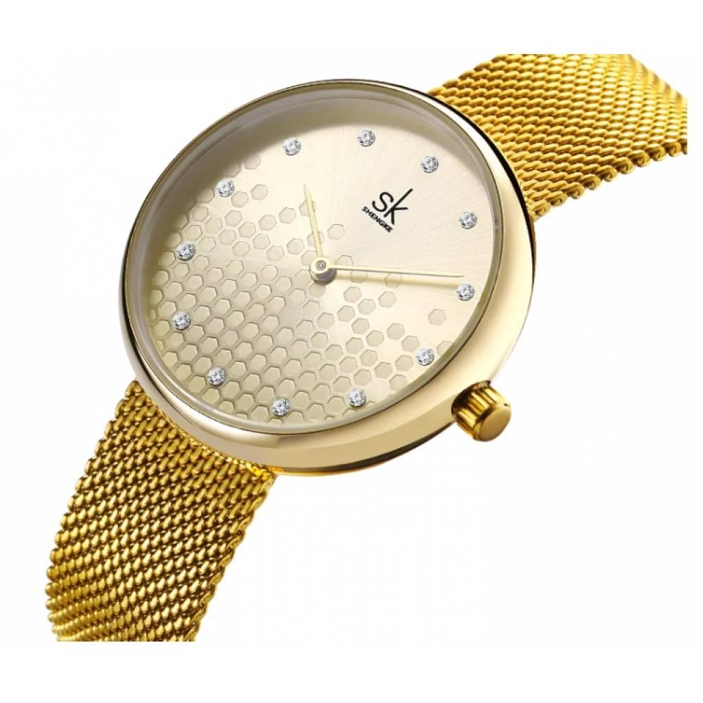Женские Часы наручные SK, серебристые 6976