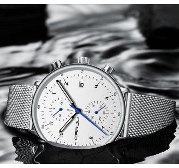 Мужские Часы наручные CRRJU, белые 6981