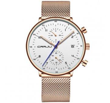 Мужские Часы наручные CRRJU, золотистые 6982